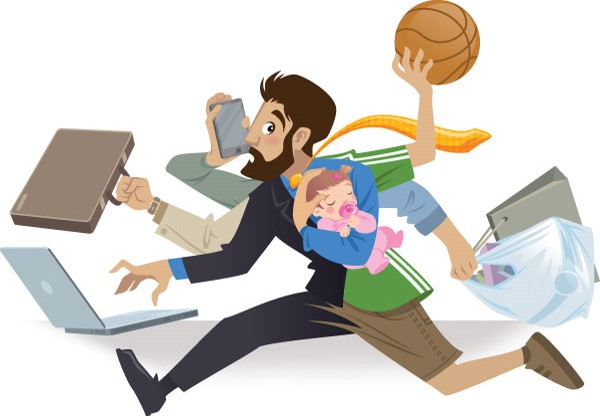 Image result for busy dad